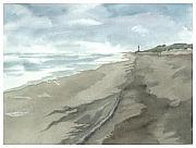 Watercolorist Framed Prints - Old Hatteras Light Framed Print by Joel Deutsch