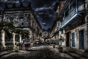 Drawn Prints - Old Havana Print by Erik Brede