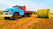 Ranch Metal Prints - Old Hay Truck  Metal Print by Edward Fielding