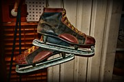 Skate Photo Metal Prints - Old Hockey Skates Metal Print by Paul Ward