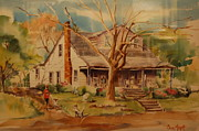 Old Home Place Painting Framed Prints - Old Home  Framed Print by Lynn Beazley Blair