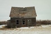 Old Houses Photo Metal Prints - Old Homestead North Dakota Metal Print by Jeff  Swan
