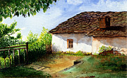 Old Farm Drawings - Old House by Abhijit Dharankar