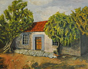 Casa Painting Originals - Old house  by Asher  Topel
