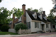 Clapboard House Prints - Old House In Colinial Williamsburg Print by Christiane Schulze