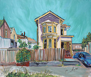 Oakland Neighborhood Prints - Old House in East Oakland Print by Asha Carolyn Young