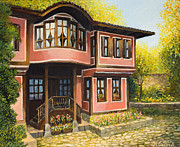 Balkan Paintings - Old House in Koprivshtica by Kiril Stanchev