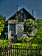 Up On The Roof Photos - Old House by Nina Ficur Feenan