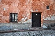Old Door Framed Prints - Old house over cobbled ground Framed Print by RicardMN Photography
