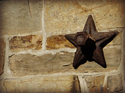 Star Barn Photos - Old Iron Anchor Plate by Brenda Conrad