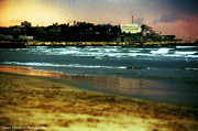 Old Jaffa In Storm 2 Print by Isaac Silman