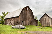 Old Barns Framed Prints - Old Jaguar Homestead - Vintage Americana Framed Print by Gary Heller