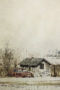 Wooden Building Posters - Old Jalopy Poster by Margie Hurwich