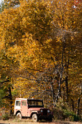 Shelburne Falls Prints - Old Jeep Shelburne Falls Massachusetts Print by Robert Ford
