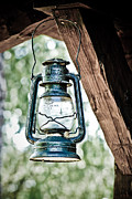 Hurricane Lamp Posters - Old kerosene lantern. Poster by JT PhotoDesign