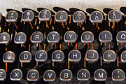 Typewriter Keys Photos - Old Keyboard by Art Block Collections