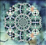 Old Lace Mandala Print by Zeana Romanovna