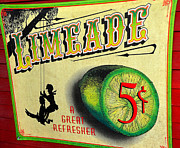 Tree Swing Posters - Old Lime Limeade Poster by David Lee Thompson