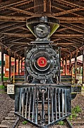 Full Length Mixed Media Framed Prints - Old Locomotive 2 Framed Print by Todd and candice Dailey