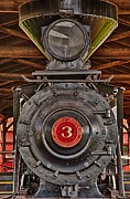 Full Length Mixed Media Framed Prints - Old Locomotive 3 Framed Print by Todd and candice Dailey