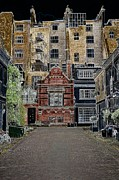 Residential Structure Digital Art Prints - Old London Print by Dmitry Smirnov