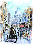 Desert Lake Painting Posters - Old London Poster by Steven Ponsford