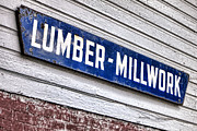 Woodworking Prints - Old Lumberyard Sign Print by Olivier Le Queinec