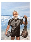 Swimmer Originals - Old Man and the Sea by Luanne Wetzel