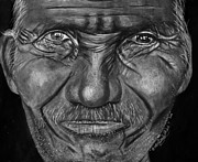 Old Face Pastels Framed Prints - Old Man Framed Print by Bada Griffiths