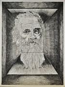 Old Man Head In Box Print by Glenn Calloway