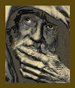 Old Man Digital Art Originals - Old man by Herbert French