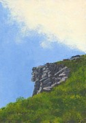 Franconia Notch Paintings - Old Man of the Mountain by Nan McCarthy