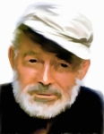 David Drawings - Old Man of The Sea  Ernest Hemingway by Iconic Images Art Gallery David Pucciarelli