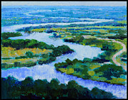 River View Paintings - Old Man River by John Lautermilch