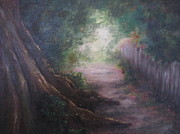 Pathways Painting Originals - Old Man Tree Toll Road by Patricia Kanzler