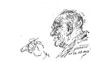 Old Drawings - Old Man by Ylli Haruni