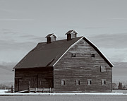Kittitas Valley Prints - Old Manastash Barn - Kittitas County - Washington Print by Steve G Bisig