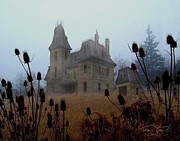 Creepy Digital Art Prints - Old Manor Print by Tom Straub