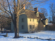 Concord.  Winter Posters - Old Manse Concord in Winter Poster by John Burk