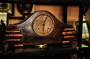 Worn In Metal Prints - Old Mantelpiece Clock Metal Print by Kaye Menner