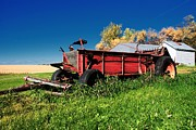 Old Barns Mixed Media - Old Manure Spreader by Todd and candice Dailey