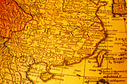 China Art - Old Map of China and Taiwan by Colin and Linda McKie