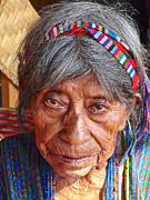 Mayan Character Framed Prints - Old Mayan Woman Framed Print by OpposableThumbnails EyeBrowses