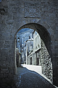 Archetypal Framed Prints - Old medieval street scene Vannes Brittany France Europe Framed Print by Jon Boyes