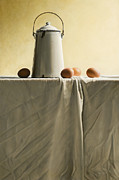 Photo-realism Paintings - Old MilkCan by Mark Van crombrugge