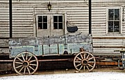 Old Mill And Wagon Print by Cheryl Cencich