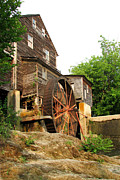 Gatlinburg Tennessee Posters - Old Mill Poster by Arthaven Teri Brown