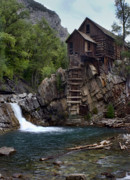 Mill Digital Art - Old Mill at the Crystal River by Ellen Lacey