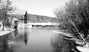 Old Mills Photos - OLD MILL in BLACK and WHITE by Janice Adomeit