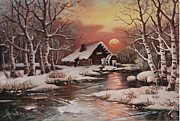 Dusan Vukovic - Old mill in the snow